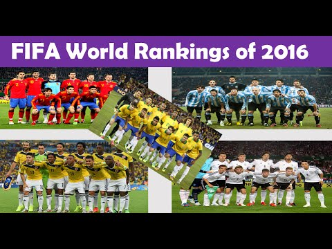 Top 10 FIFA World Rankings of 2016 - Top 10 List