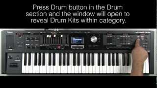 Roland VR-09 - How to Select Sounds in Drum Section