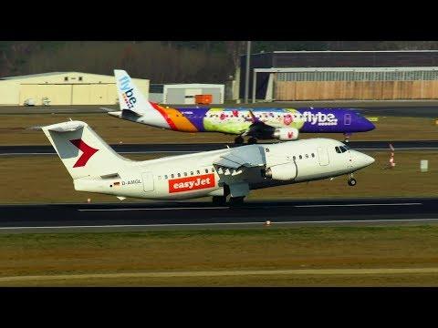 EASYJET BAe 146-200/-300 (op by WDL) Landing and Takeoff at Berlin Tegel Airport (TXL)!