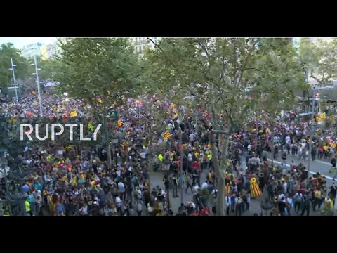 LIVE: Barcelona Hit By General Strike In Support Of Jailed Catalan Leaders
