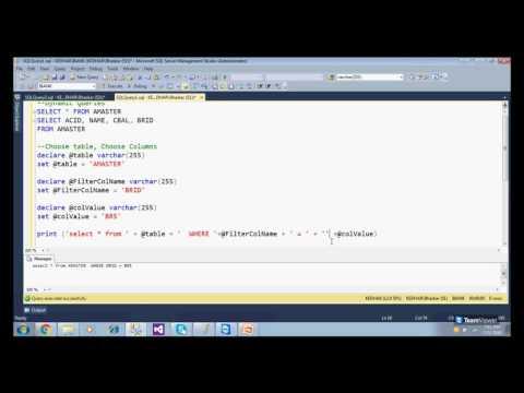 SQL Server - Dynamic SQL