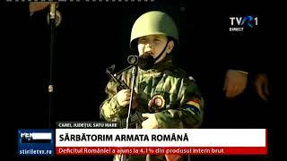 Adrian Chira, micul soldat - moment inedit la Carei, de Ziua Armatei