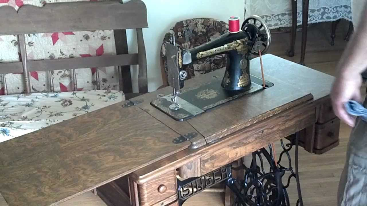 Restored Antique 1922 Singer 127 Sphinx Treadle Sewing