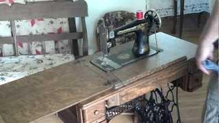 Restored Antique 1922 Singer 127 Sphinx Treadle Sewing Machine Tiger Oak Cabinet G9428914
