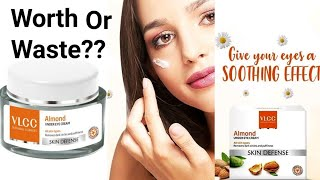 Vlcc Almond Under EYE Cream Review | Remove Puffiness & Dark Circles ||Beauty With Easy Tips