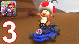 Mario Kart Tour - Gameplay Walkthrough Part 3 - Toad Cup (iOS, Android)