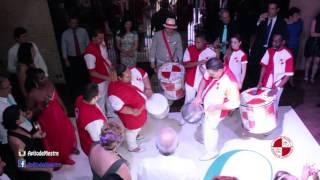 Esquenta de bateria em festa de casamento no Buffet Villa Bissuti - Apito de Mestre