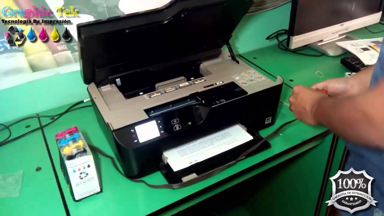 Instalacion Sistema De Tinta Continua En Hp Deskjet 3520 E