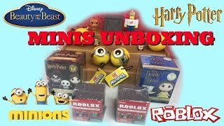 Mystery Minis Surprises! Roblox, Beauty & the Beast, Harry Potter and Minion Mineez Unboxing!
