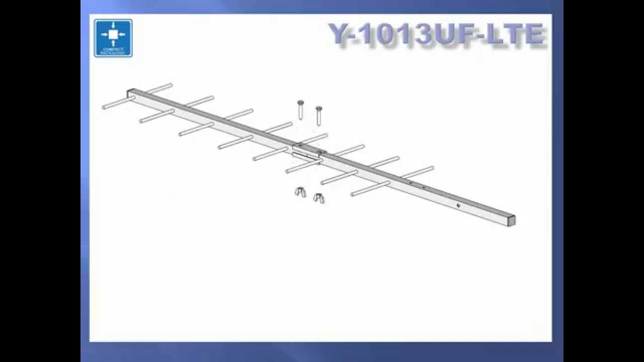 Y-1013UF/LTE Classic design Yagi antenna with new -unique 4G/LTE signal  rejection modification