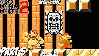 Super Mario Maker 2 Story Mode Gameplay Walkthrough Part 5 - BOOM BOOM RAGER - Nintendo Switch