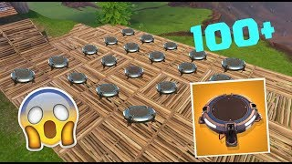 TOP WORLD RECORDS IN FORTNITE! 1000+BUILD A TRAMPOLINE PARK IN FORTNITE!
