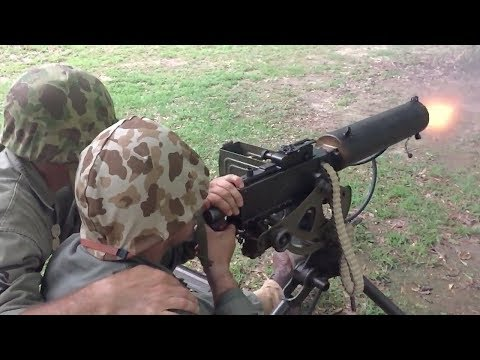 Shooting an M1917A1 water-cooled machine gun at 240 frames per second!