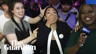 The moment 28-year-old socialist beats top-ranking Democrat in congressional primary
