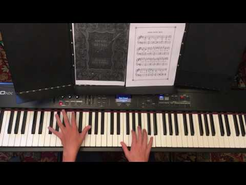 Three Blind Mice - Children 's songs on the piano