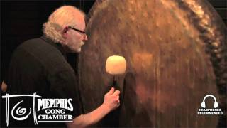 "Paiste 60"" Sound Creation Earth Gong Harmonics - Played by Michael Bettine at Memphis Gong Chamber"