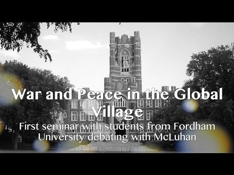 Marshall McLuhan 1967 The global village's theater - Seminar - Fordham University Taps #4