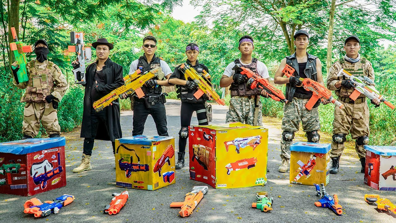 LTT Nerf War : Squad SEAL X Warriors Nerf Guns Fight Dr.Lee Crazy Gang Destruction Plan
