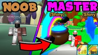 NOOB GETS *SHINY* SECRET PETS IN BUBBLE GUM SIMULATOR!! (Roblox)