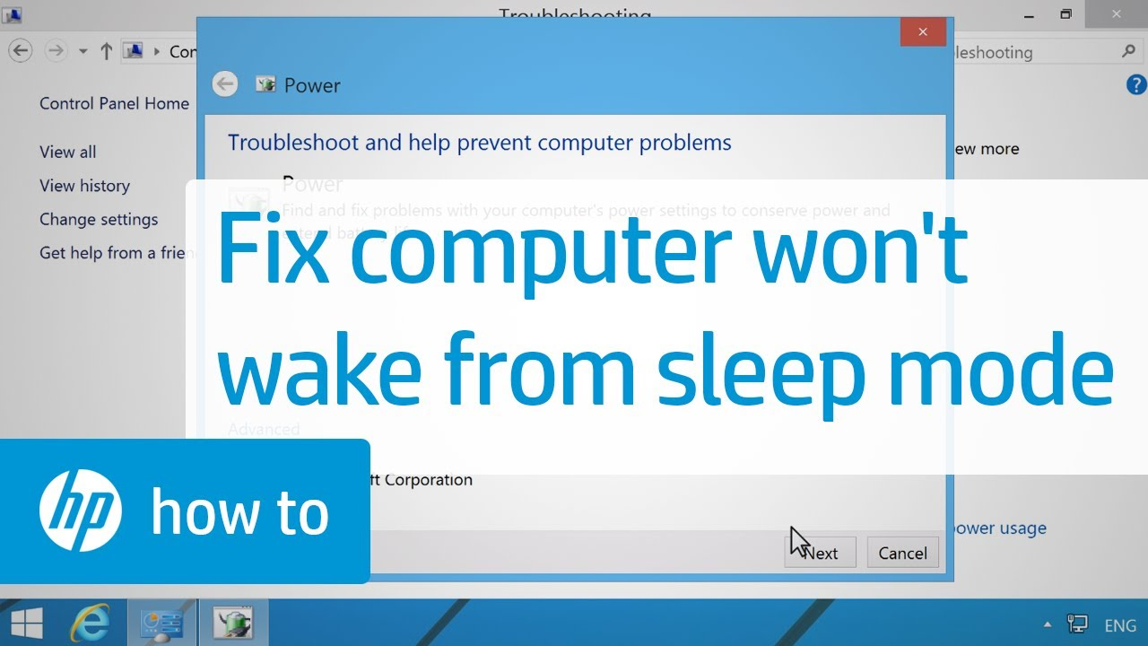 The Computer Will Not Wake Up from Sleep or Hibernate Mode | HP Computers |  HP