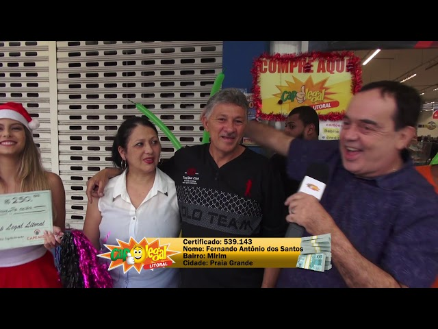 Fernando, da Praia Grande, e Mauro, de São Vicente, levaram R$ 2.500 cada