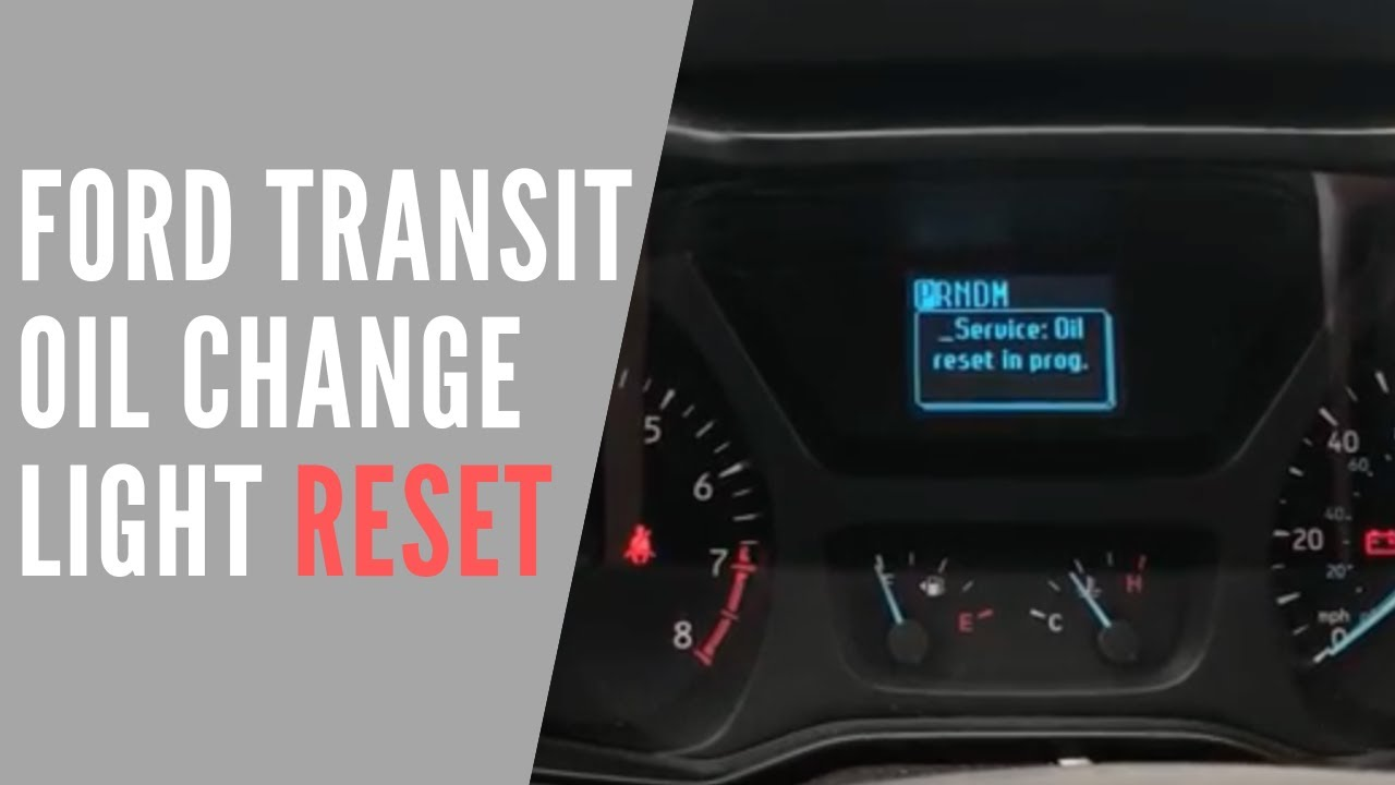 2016 Ford Transit Oil Life Reset Youtube