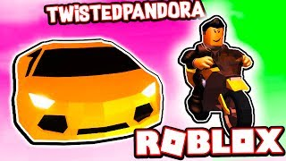 MOTO VS LAMBORGHINI CARRERA EN ROBLOX JAILBREAK!!