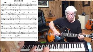 Chances Are - Jazz guitar & piano cover ( Robert Allen)