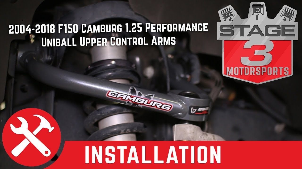 2004 2018 F150 Camburg 1 25 Performance Uniball Upper Control Arms Install Youtube