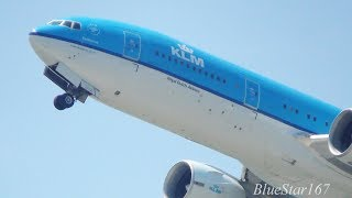 KLM Royal Dutch Airlines Boeing 777-200ER (PH-BQE) takeoff from KIX/RJBB (Osaka - Kansai) RWY 06R thumbnail