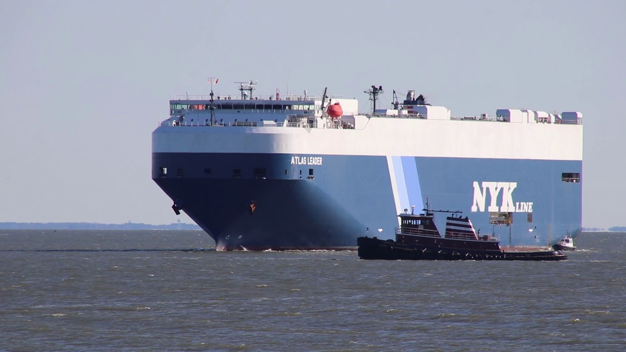 NYK Line vehicles carrier Atlas Leader comes to Baltimore December 18, 2018