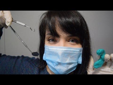 ASMR Dental Brace Fitting - Gloves, Soft Speaking, Sticky Sounds