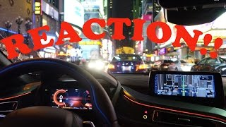 [REACTION Video] BMW i8 Meets Times Square, New York City