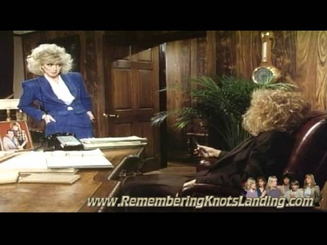 Laura pisses Abby off in Knots Landing
