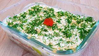 Kак приготовить рыбный салат а ля суши очень ефектный салат Mой вариант этого салата