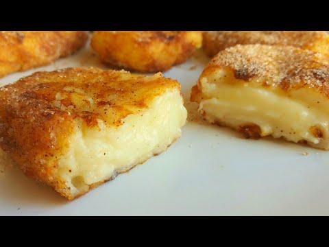 Delicious And Tasty Fried Milk Spanish Dessert / Leche Frita Recipe