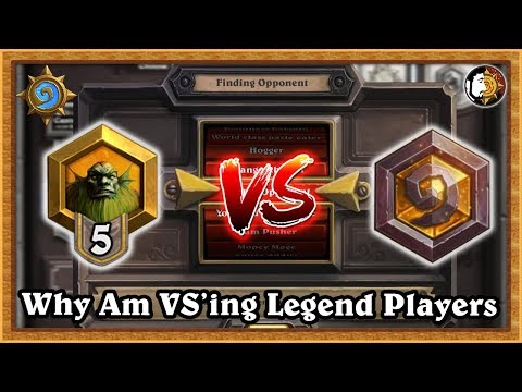 Hearthstone: Rank 5 Getting Matched With Legend Players - Matchmaking Update