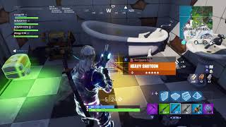 Galaxy Skin sitting down while running, Fortnite glitch