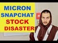MICRON AND SNAPCHAT CONTINUE STOCK CRASH. GAME OVER?