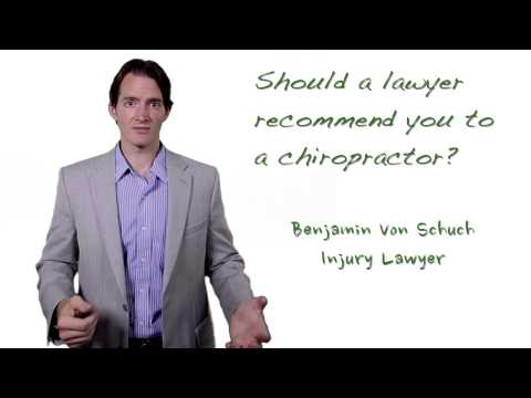 Should your car accident lawyer refer you to a chiropractor? | Atlanta injury lawyer
