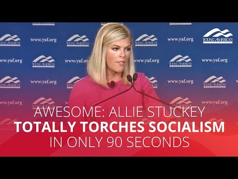 AWESOME: Allie Stuckey totally torches socialism in only 90 seconds
