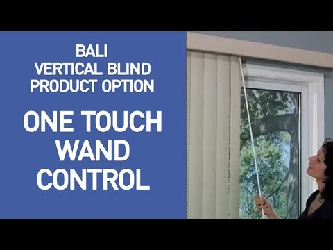 Bali Vertical Blind With One Touch Wand Control