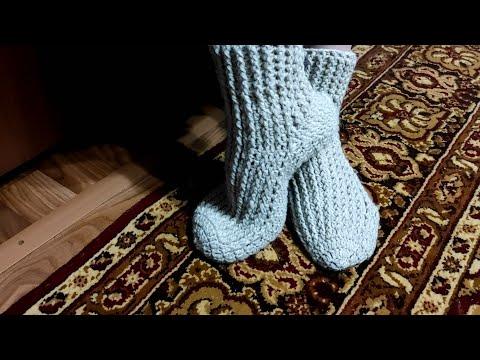Вязание носков крючком носков для начинающих видео уроки