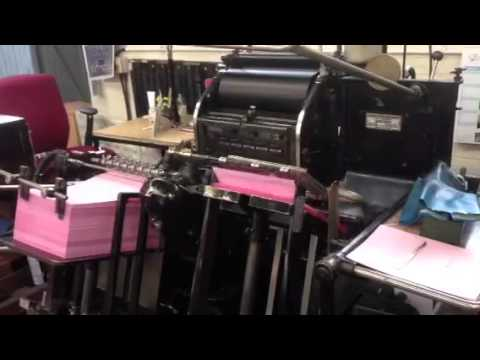 Letterpress printing 2