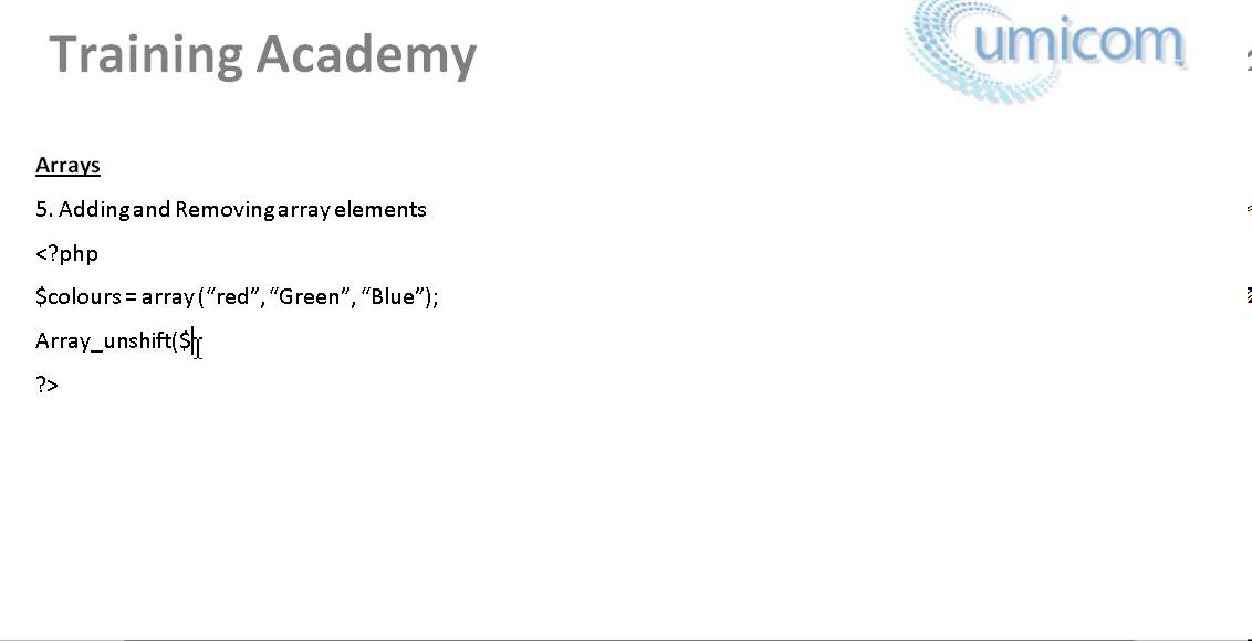 Part 34: Learning Programming (PHP Web Development) - Adding and Removing array elements