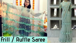 Frill / Ruffle Saree /Net Saree/ SWATI BHAMBRA
