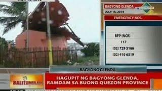 BT: Hagupit ng Bagyong Glenda, ramdam sa buong Quezon Province