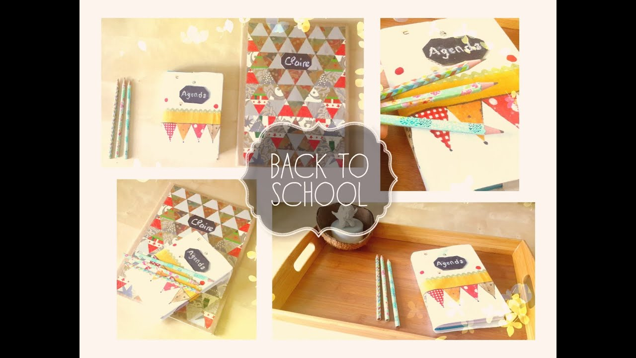 diy back to school customiser ses fouritures scolaires claire youtube. Black Bedroom Furniture Sets. Home Design Ideas