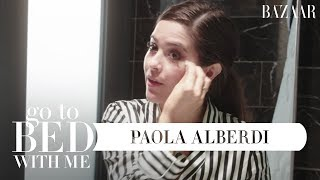Paola Alberdi's Nighttime Skincare Routine | Go To Bed With Me | Harper's BAZAAR