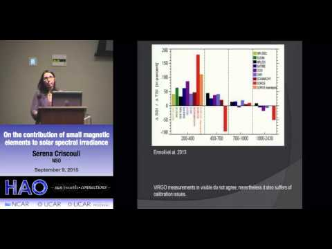Serena Criscouli | NSO | On the contribution of small magnetic elements to solar spectral irradiance